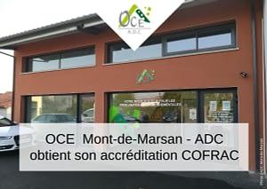 OCE Mont-de-Marsan – ADC obtient son accréditation