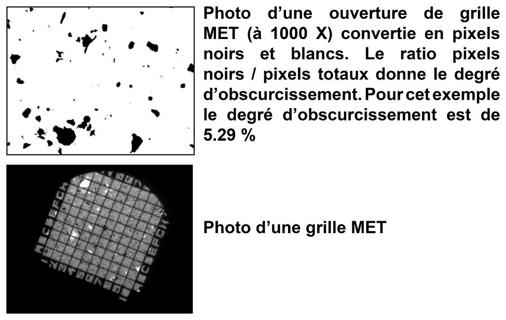 Grilles MET Obscurcissement Analyse Ouest Contrôle Environnement Amiante Prélèvement Analyse Désamiantage