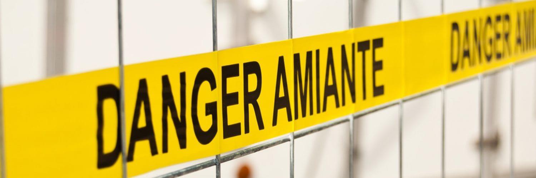 Attention Danger Amiante Grille Ouest Contrôle Environnement Amiante Prélèvement Analyse Désamiantage